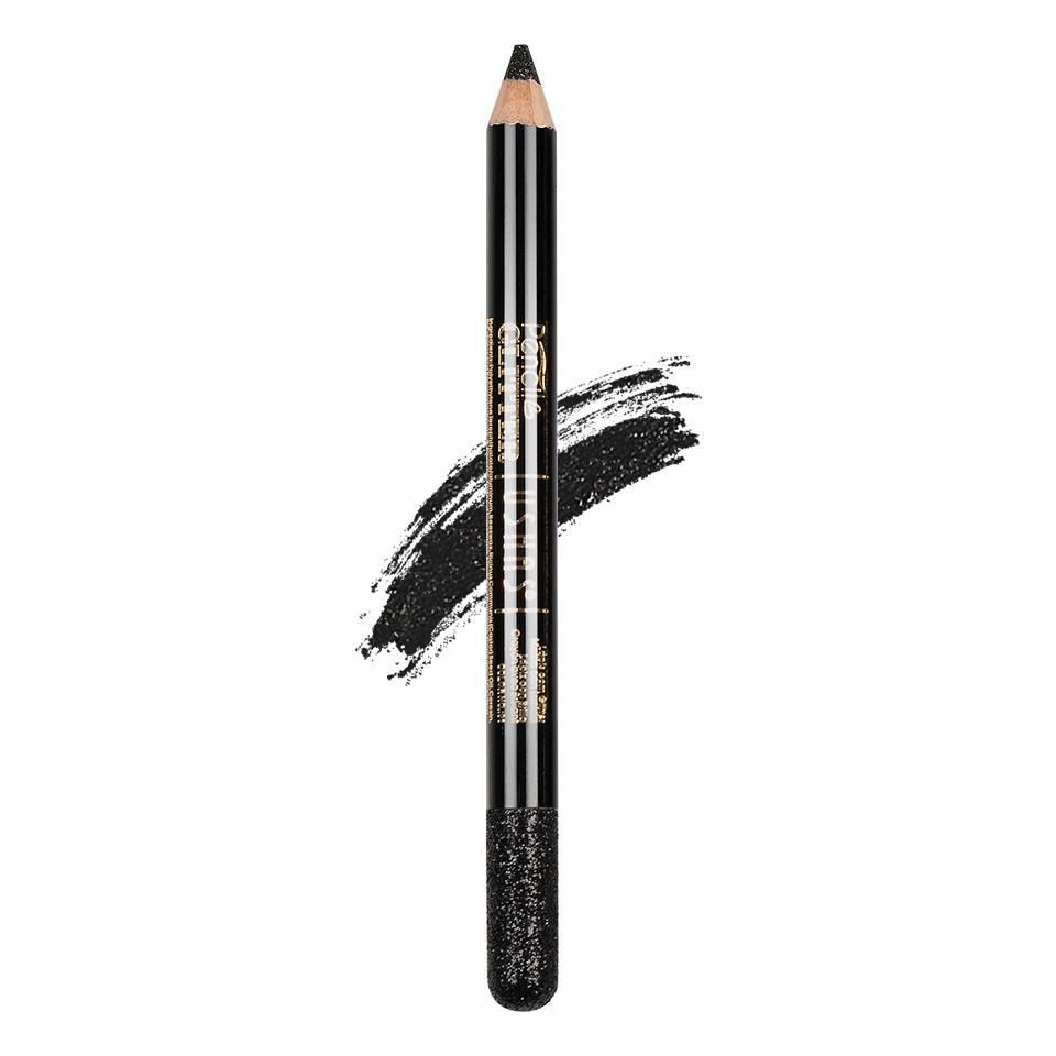 Creion Colorat Contur Ochi cu Sclipici, Ushas Glittery Black #01 imagine