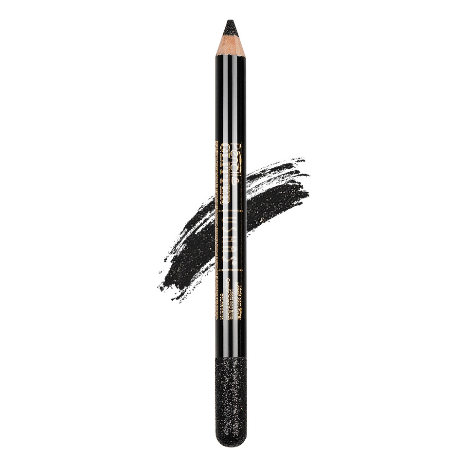 Creion Colorat Contur Ochi cu Sclipici, Ushas Glittery Black #01 pensulemachiaj.ro