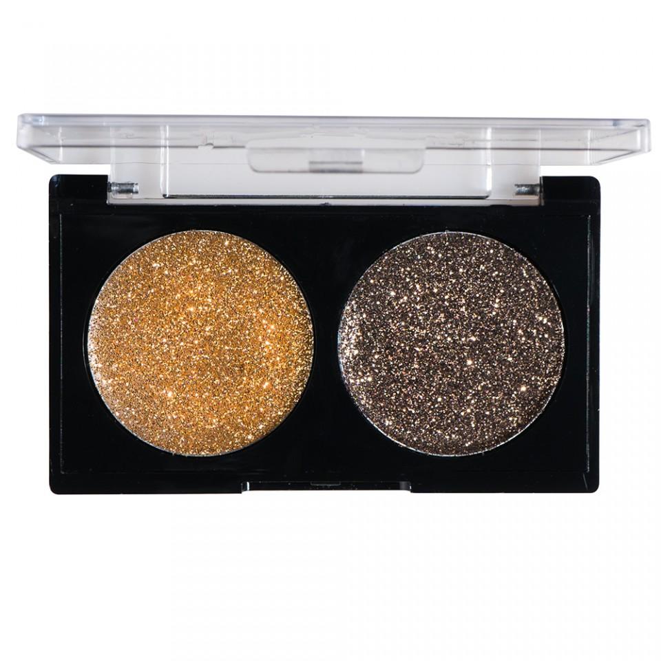 Glitter Ochi Pulbere Gold & Caramel imagine