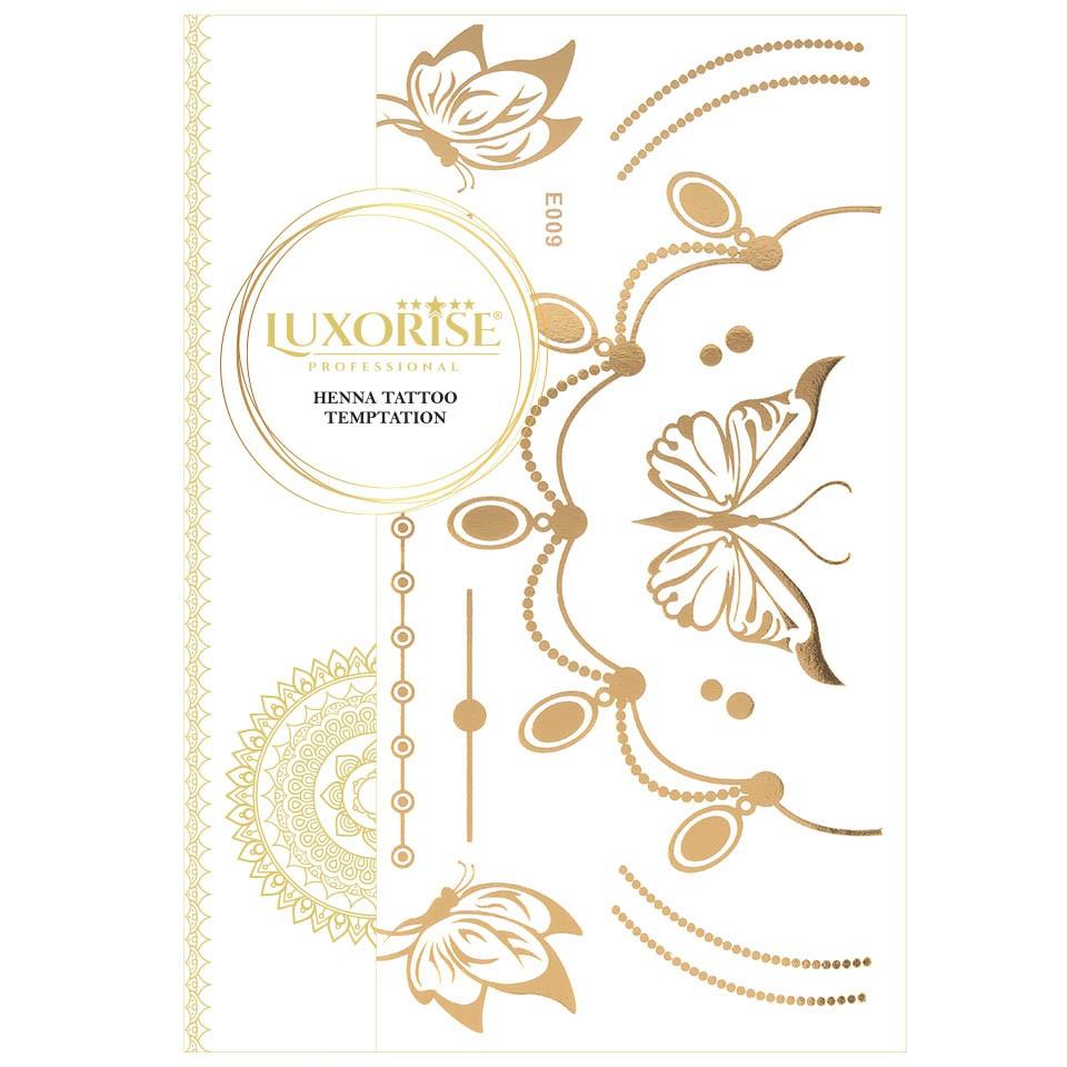 Tatuaj Temporar LUXORISE Henna Temptation Gold Edition E009 pensulemachiaj.ro
