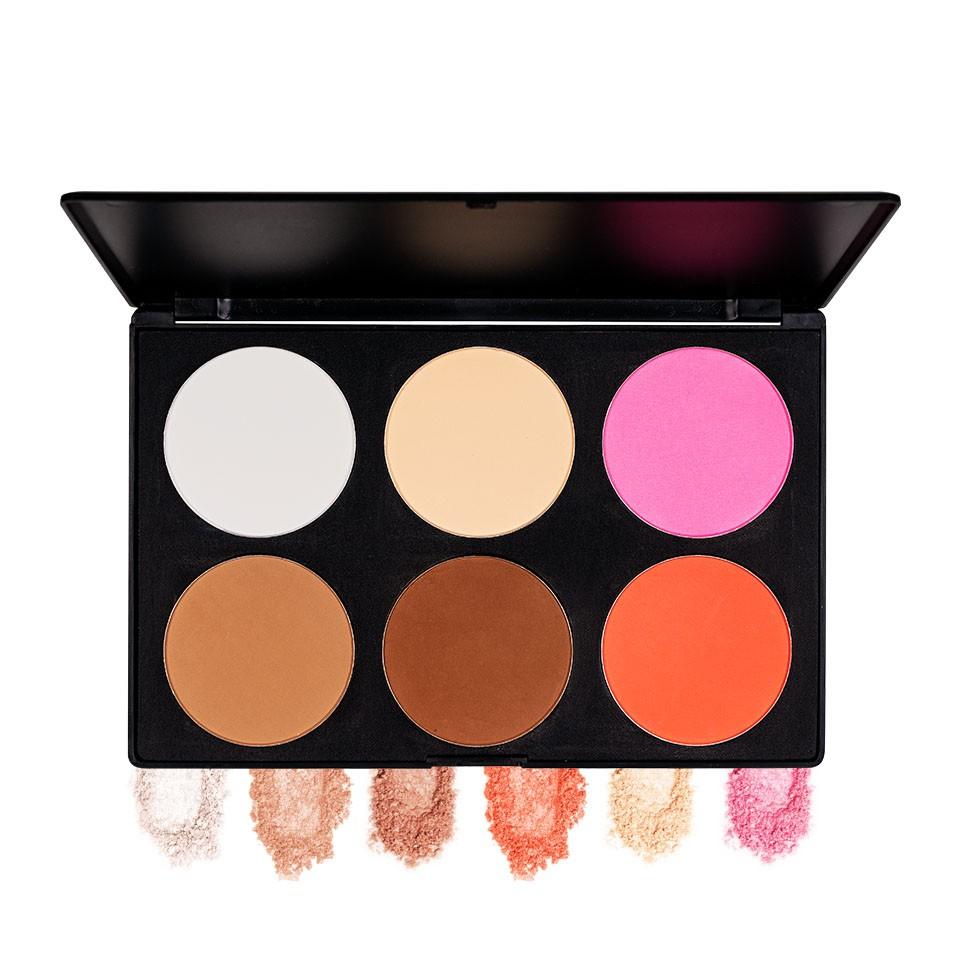 Trusa Blush & Pudra fata 6 culori Fraulein38 Natural Beauty + CADOU Aplicator pudra mare imagine