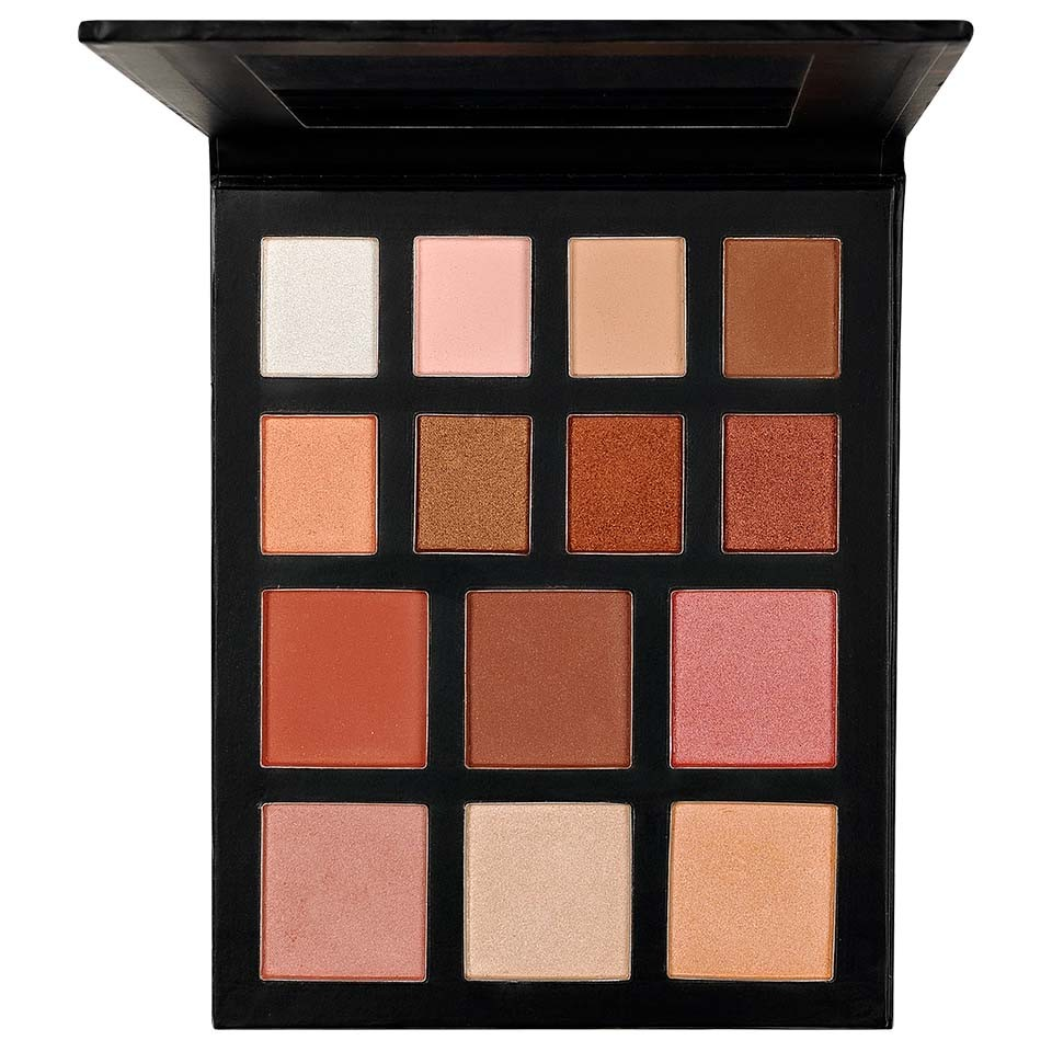 Trusa Farduri, Iluminator, Blush - Bronzed Shine Palette Kiss Beauty imagine
