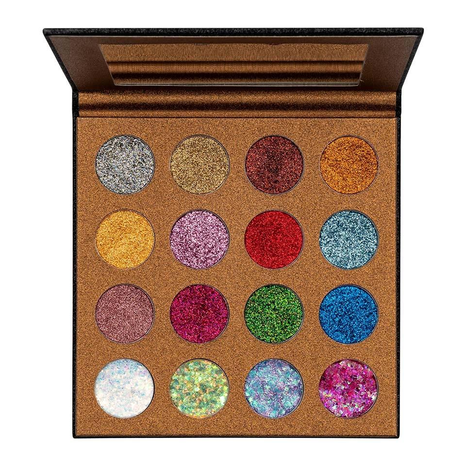 Trusa glitter ochi UCANBE Starry Palette + CADOU Adeziv Glitter poza