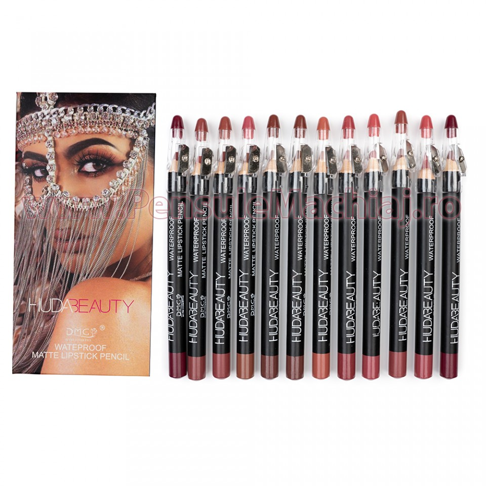 Set Creion Contur Buze 12 culori Amaranth Lips
