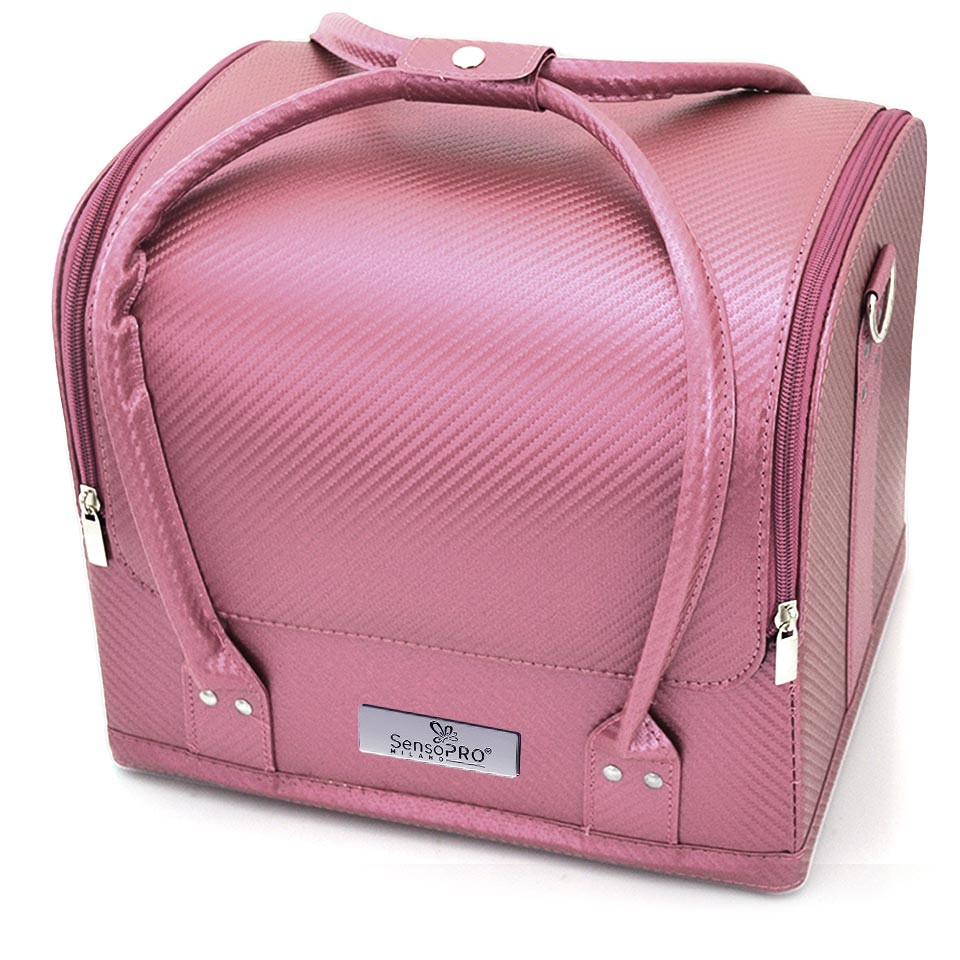 Geanta Produse Cosmetice Sensopro, Light Pink Pattern