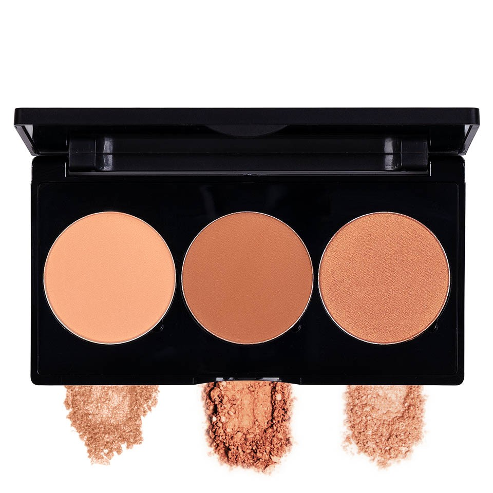 Kit Contur & Iluminator fata 3 culori - PRO Contour Kit #02 imagine