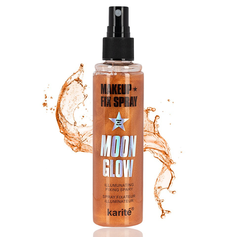 Spray Fixare Machiaj Karite Glitter Moon Glow imagine