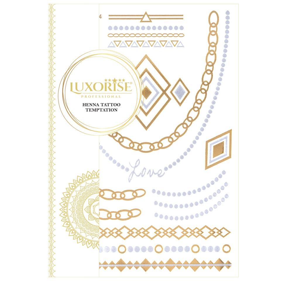 Tatuaj Temporar LUXORISE Henna Temptation Gold Edition E024 pensulemachiaj.ro
