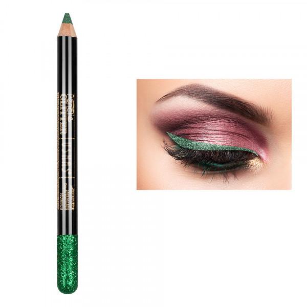 Poze Creion Colorat Contur Ochi cu Sclipici, Ushas Glittery Green #06