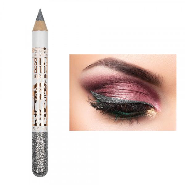 Poze Creion Contur Ochi Colorat cu Sclipici, Waterproof #505