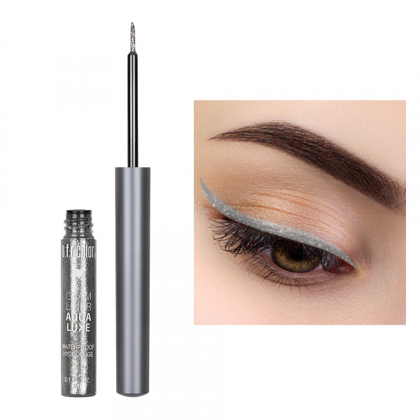 Poze Eyeliner Colorat cu Sclipici S.F.R. Color Glam Waterproof #07