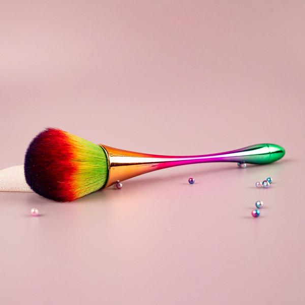 Poze Pensula Machiaj pentru Pudra Gold Rainbow