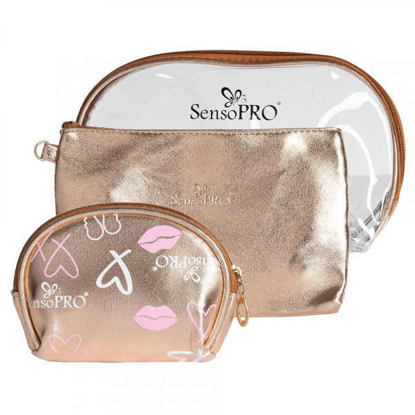 Poze Portfard Travel Transparent & Gold, SensoPRO Holiday, set 3 buc