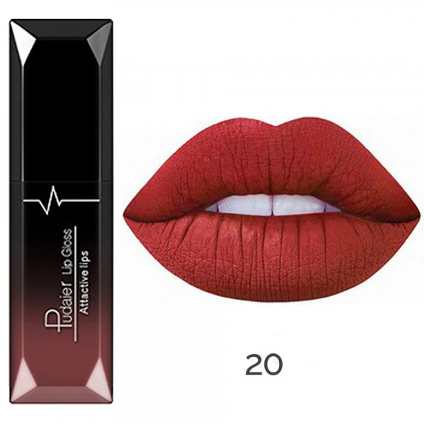 Poze Ruj lichid mat Pudaier Attractive Lips - Atomic red #20