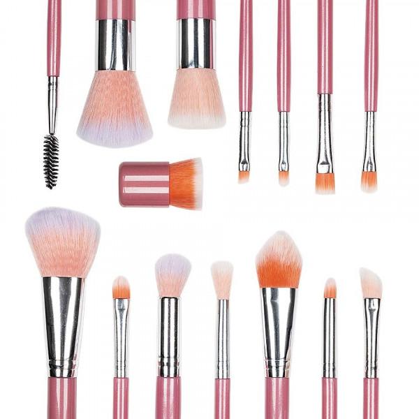 Poze Set 15 pensule machiaj profesional Only Cuteness - Peach