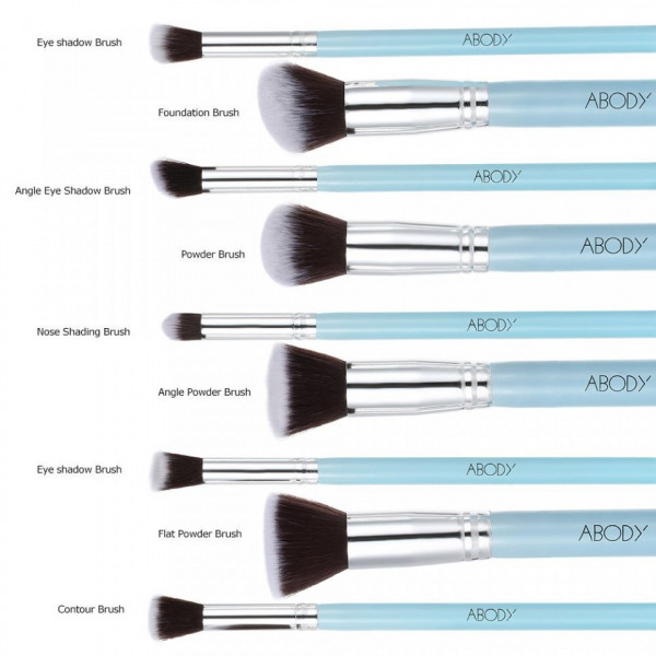 Set 9 Pensule Profesionale Machiaj Blue Expert Collection