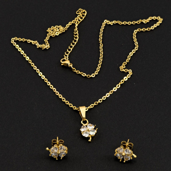 Poze Set Bijuterii Inox Crystal Seduction