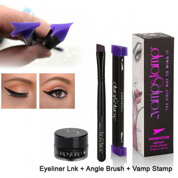 Poze Set Eyeliner Gel, Stampila si Pensula VampStamp Large