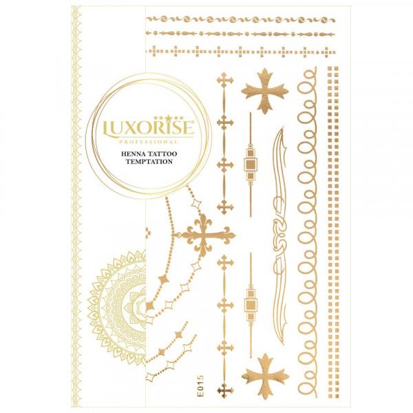 Poze Tatuaj Temporar LUXORISE Henna Temptation Gold Edition E015