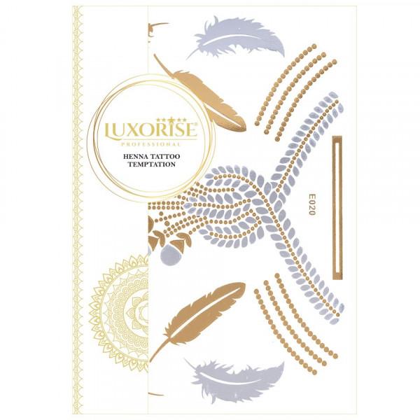 Poze Tatuaj Temporar LUXORISE Henna Temptation Gold Edition E020