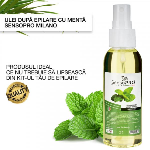 Poze Ulei dupa Epilare cu Menta SensoPRO Milano - 100 ml