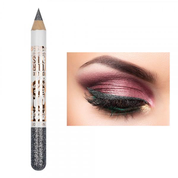 Poze Creion Contur Ochi Colorat cu Sclipici, Waterproof #508
