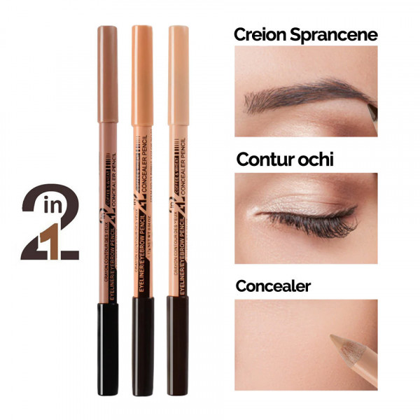 Poze Creion sprancene 2 in 1 cu corector Duo High Brow