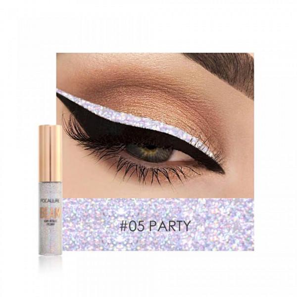 Poze Eyeliner Colorat Focallure Glittery Shine #05 PARTY