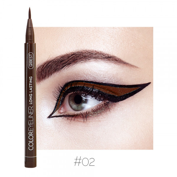 Poze Eyeliner colorat Qibest Waterproof, Maro #02