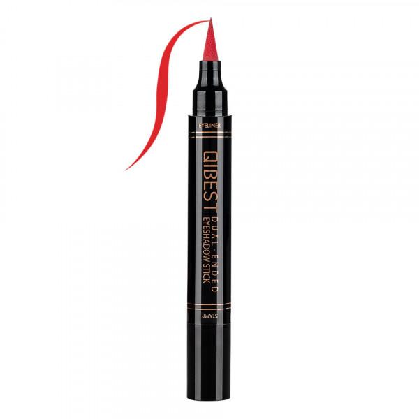 Poze Eyeliner Colorat tip Carioca cu Stampila Ochi, Qibest Mirage Red #05