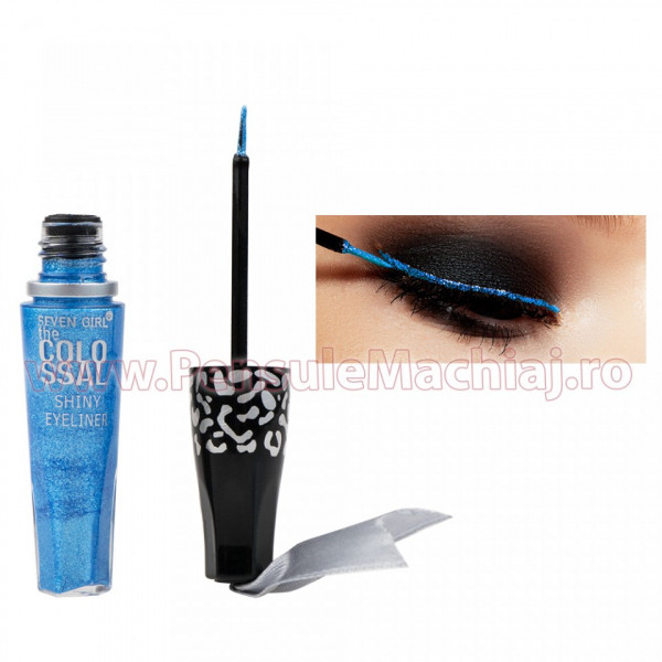 Poze Eyeliner Lichid Rezistent la Transfer Tropical Blue 8 ml - 12