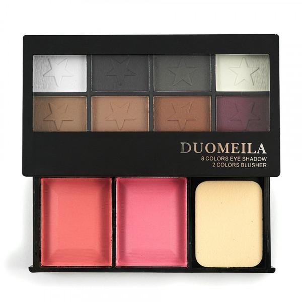 Poze Fard de Pleoape 8 culori cu blush 2 culori DUOMEILA #03