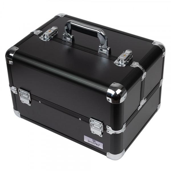 Poze Geanta Makeup Charcoal Black - SensoPRO Milano + CADOU Set 12 Pensule Machiaj