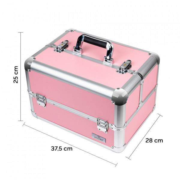Poze Geanta Produse Cosmetice SensoPRO Milano, Pastel Pink + CADOU Set 12 Pensule Machiaj