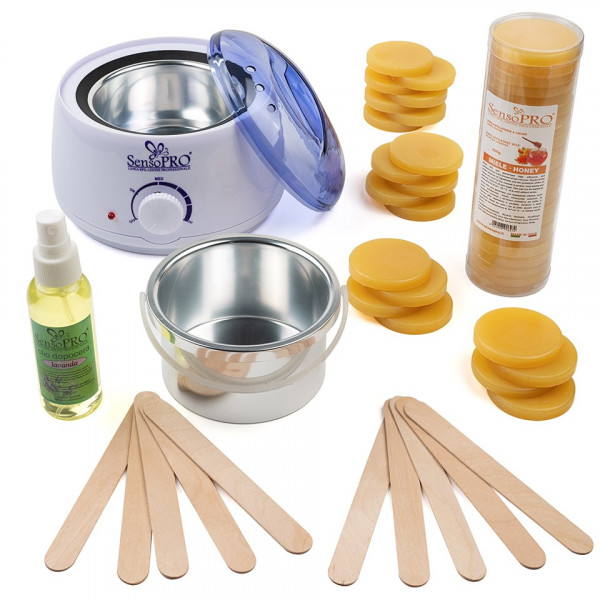 Poze Kit Epilare Ceara Traditionala Discuri SensoPRO Italia Honey Breeze