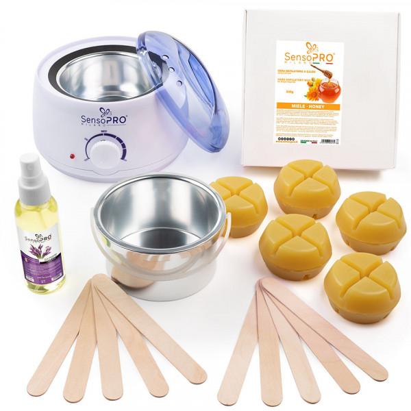Poze Kit Epilare Ceara Traditionala Refolosibila SensoPRO Milano Honey