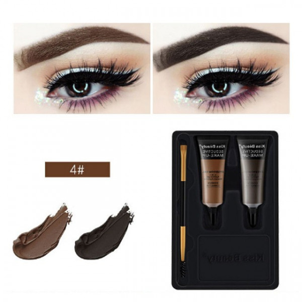 Poze Kit sprancene 2 geluri + pensula aplicare #04 QuickBrow Kiss Beauty