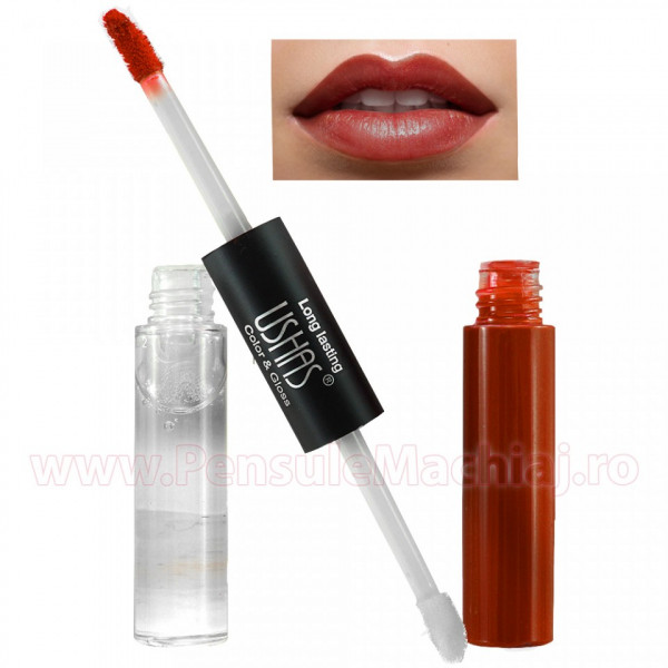 Poze Lip Gloss 2 in 1 High Shine #05 - Color & Gloss - Sexy Red