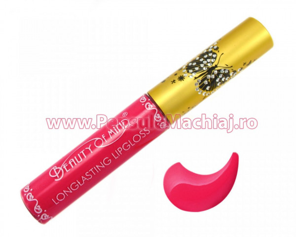 Poze Lip Gloss rezistent la transfer mat Beauty of Mind #08 - Azalea Petal