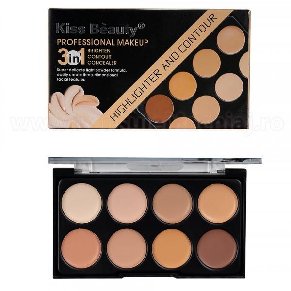 Poze Paleta Contur, Corector, Anticearcan 8 culori Luminous Energy #01 Kiss Beauty