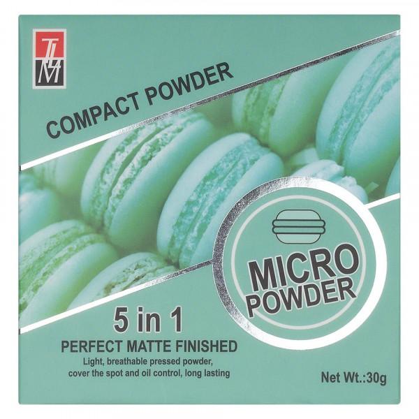 Poze Pudra Compacta Fixare Machiaj 5 in 1 TLM Micro Powder Green