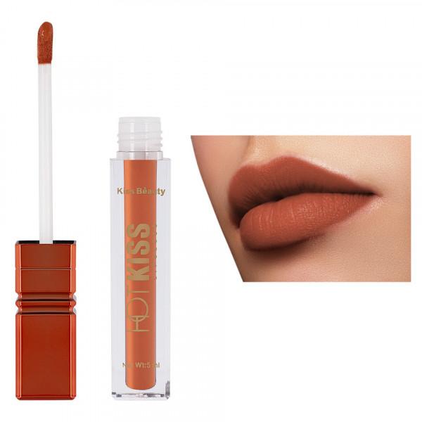 Poze Ruj Lichid Mat Kiss Beauty Hot Kiss #04