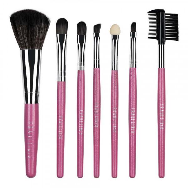 Poze Set 7 pensule machiaj Fraulein38, Sweet Pink + Borseta Cadou