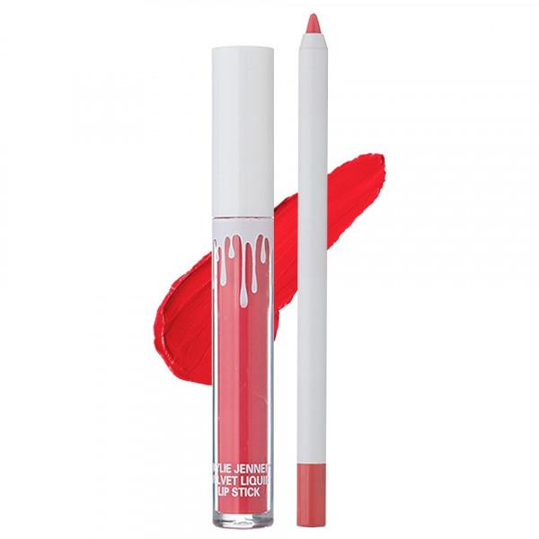 Poze Set Ruj Lichid Mat + Creion Buze RED VELVET