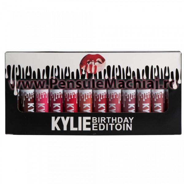 Poze Set Rujuri Lichide Mate 12 Culori Kylie Birthday Edition Royal Collection