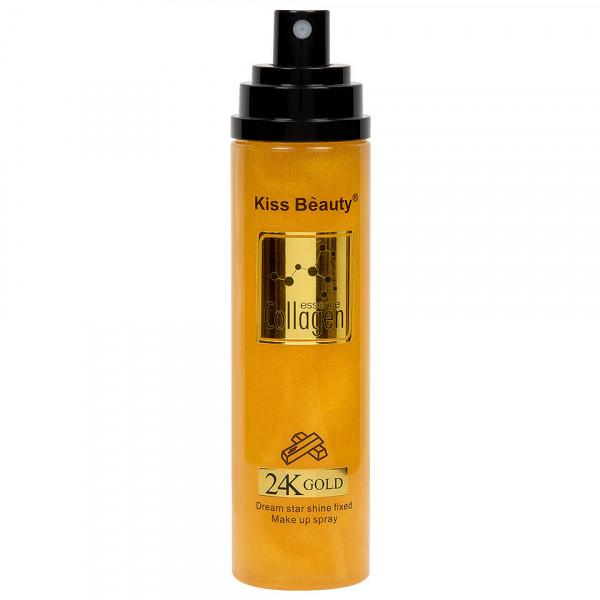 Poze Spray Fixare Machiaj Kiss Beauty Collagen Essence 24K Gold