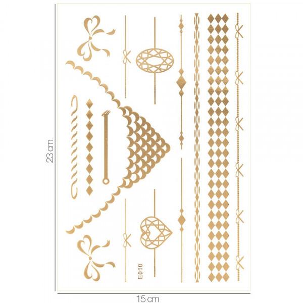 Poze Tatuaj Temporar LUXORISE Henna Temptation Gold Edition E010