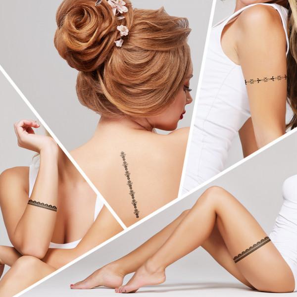 Poze Tatuaj Temporar LUXORISE Henna Temptation Lined Up J003