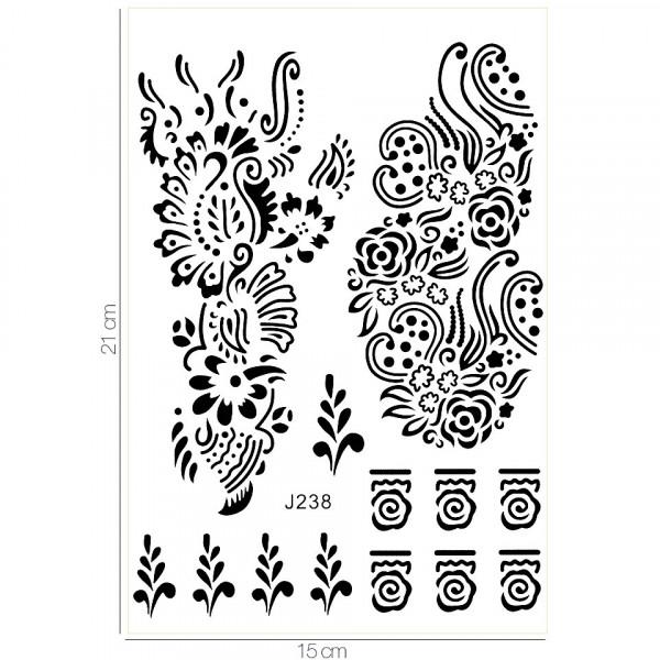 Poze Tatuaj Temporar LUXORISE Henna Temptation Seaweed J238