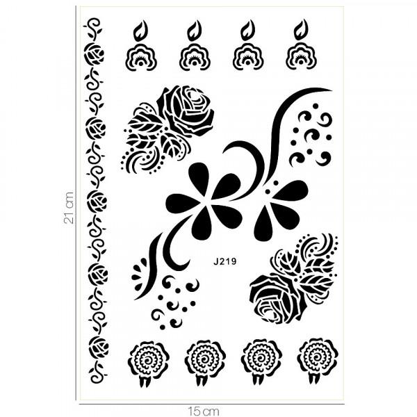 Poze Tatuaj Temporar LUXORISE Henna Temptation Wild Roses J219